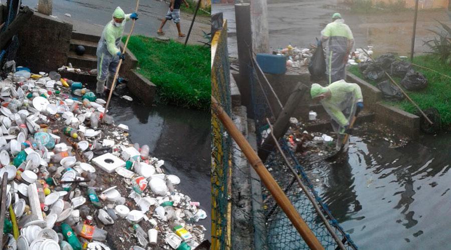 Prefeitura de Vila Velha retira mais de 24 toneladas de lixo dos canais da cidade
