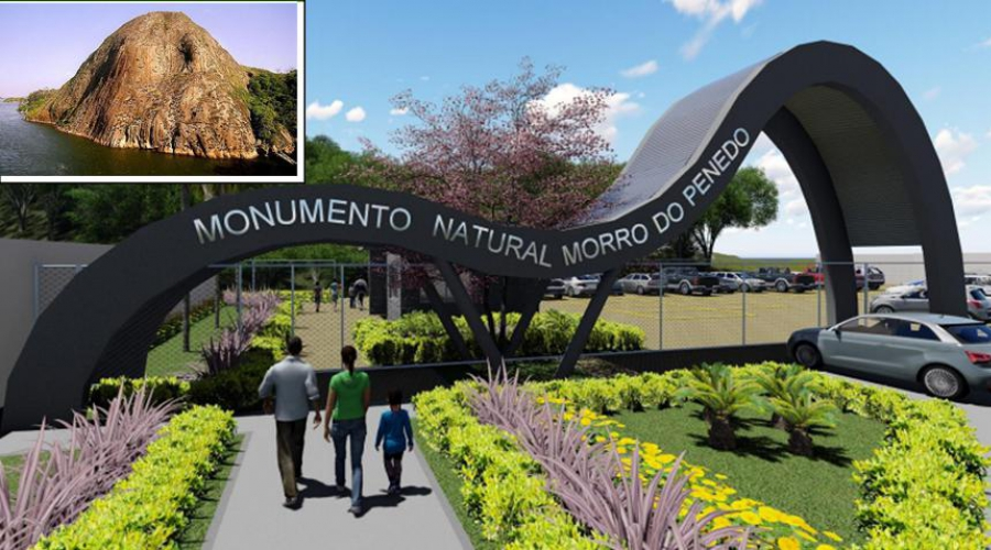 Parque Ambiental do Penedo terá mirante, trilhas e deck voltado para a baía